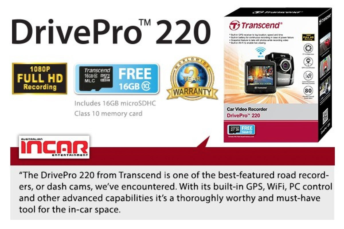 Transcend-DrivePro-220-Dash-Cam-with-GPS-Wi-Fi-and-FREE-16GB-MLC-Memory-Card