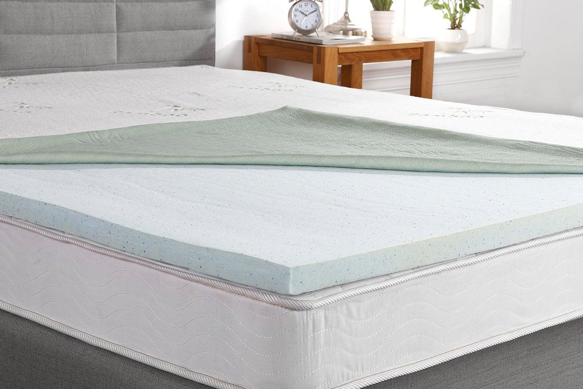 ovela gel infused memory foam mattress topper queen ebay. Black Bedroom Furniture Sets. Home Design Ideas