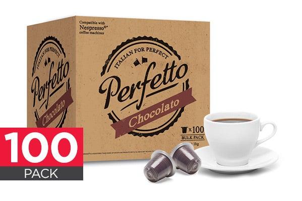 new perfetto chocolate capsules 100 pack nespresso compatible hot chocolato ebay. Black Bedroom Furniture Sets. Home Design Ideas