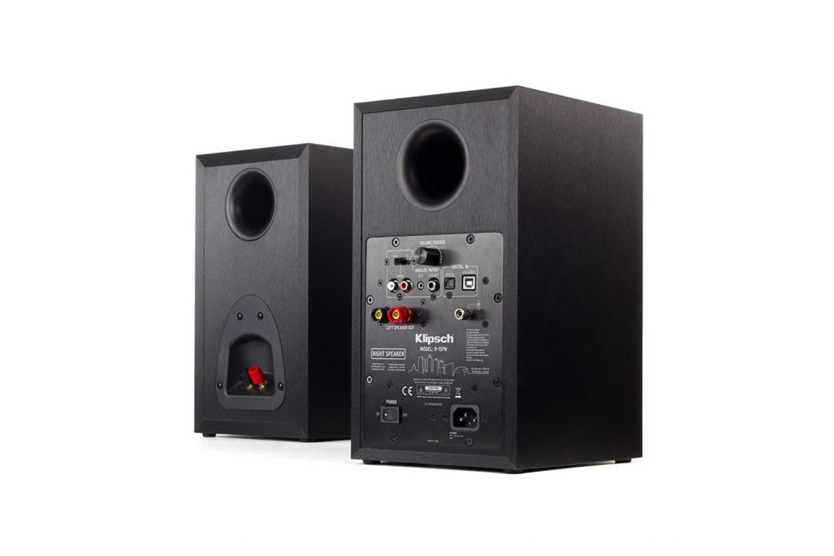 Klipsch R-15PM Reference Powered Bookshelf Speakers Pair ...