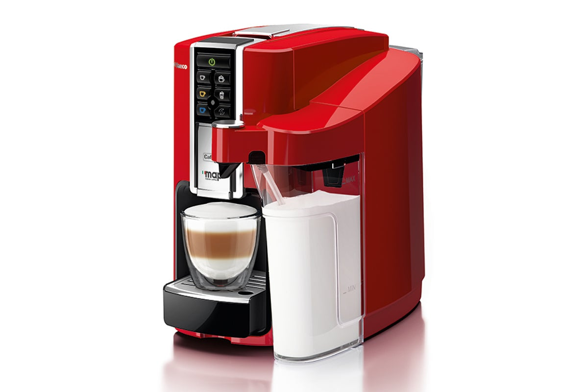 saeco bravista latte plus caffitaly coffee capsule machine red ebay. Black Bedroom Furniture Sets. Home Design Ideas