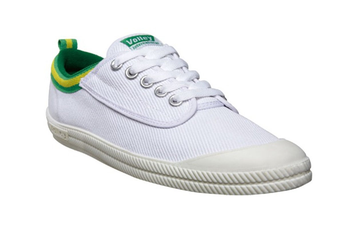 new volley shoes international white green gold us 9