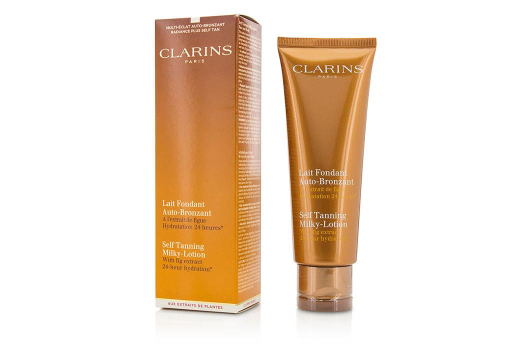 clarins self tanning milky lotion 125ml ebay. Black Bedroom Furniture Sets. Home Design Ideas