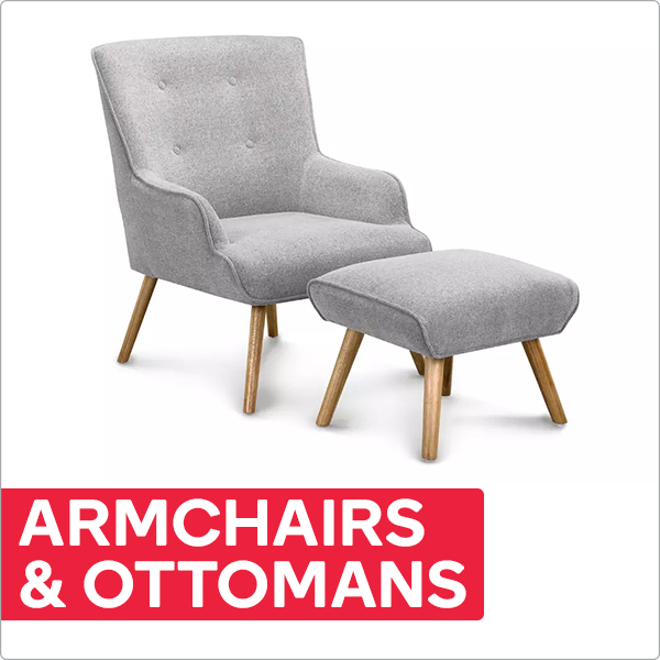 Armchairs with Ottomans