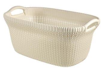 Curver 40lt Knit Basket (White)
