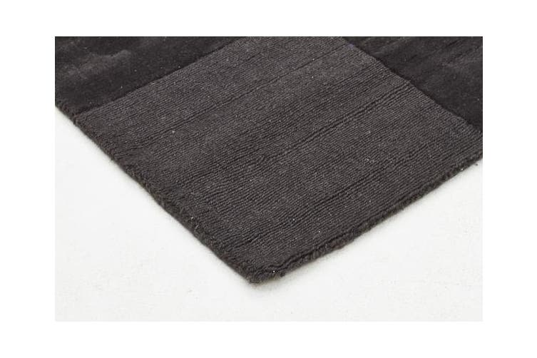 Wool Hand Tufted Rug - Box Pewter - 280x190cm