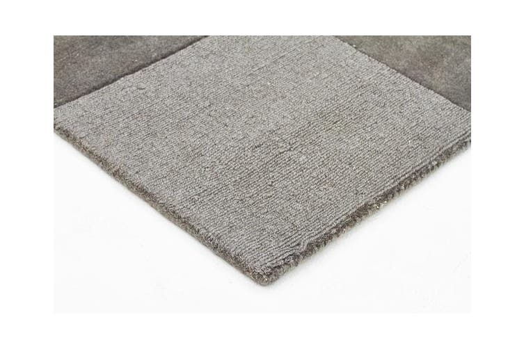 Wool Hand Tufted Rug - Box Smoke - 225x155cm