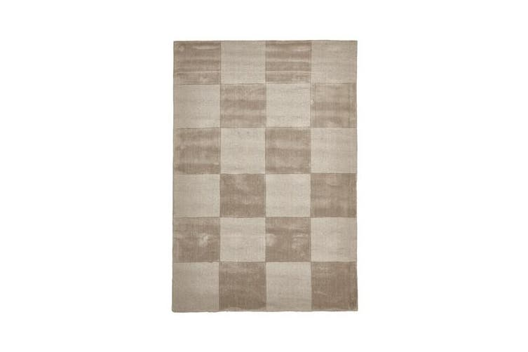 Wool Hand Tufted Rug - Box Taupe - 225x155cm