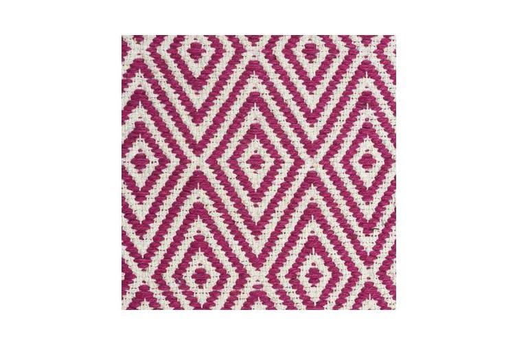 Modern Flatweave Diamond Design Pink Rug 225x155cm
