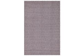 Modern Flatweave Diamond Design Purple Rug 225x155cm