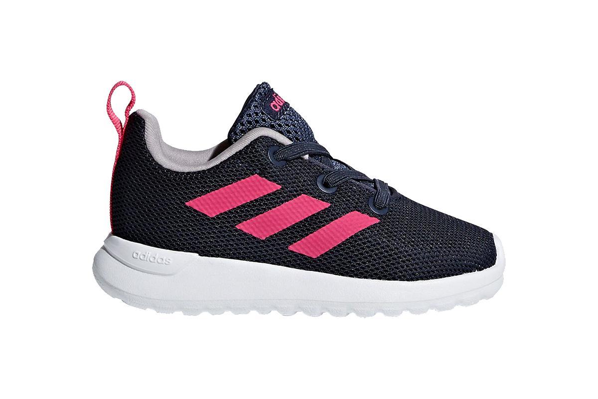 Adidas Girls' Infant Lite Racer CLN I Shoe (Trace Blue/Shock Pink/Cloud White, Size 8.5K US)