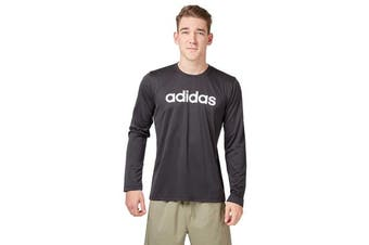 Adidas Men's Logo Long Sleeve Tee (Black, Size L)