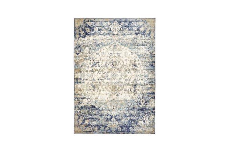 Venice Stunning Designer Rug Ivory Blue 290x200cm