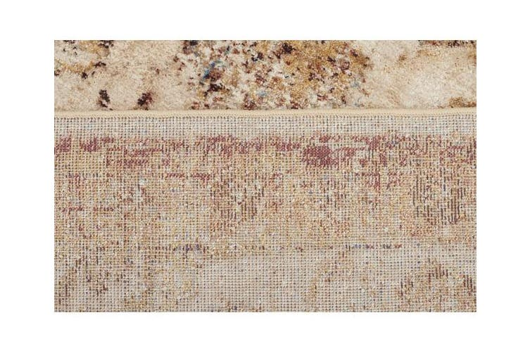 Tuskany Stunning Designer Rug Ivory Rust 330x240cm