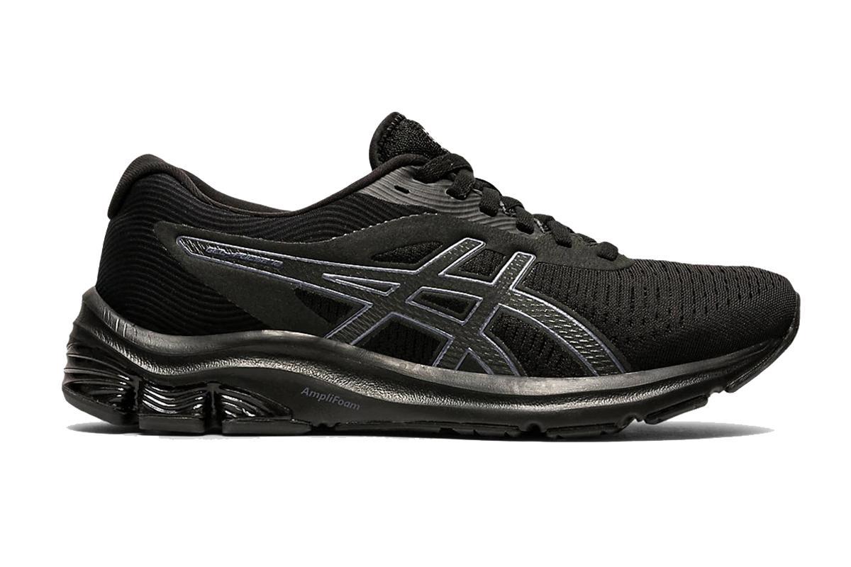 ASICS Women's Gel-Pulse 12 Running Shoe (Black/Black, Size 7 US)