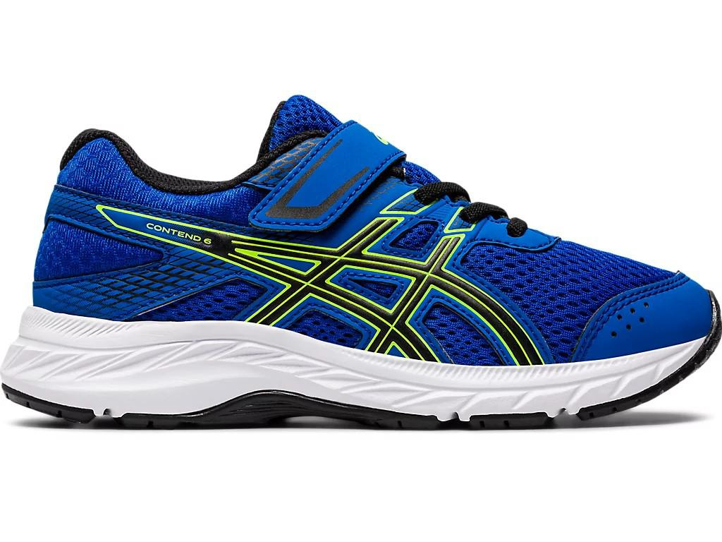 ASICS Kids Contend 6 PS Running Shoe (Tuna Blue/Black, Size 1 US) | Boys' Shoes |