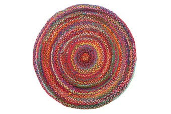 Chandra Braided Cotton Rug Multi 200x200cm