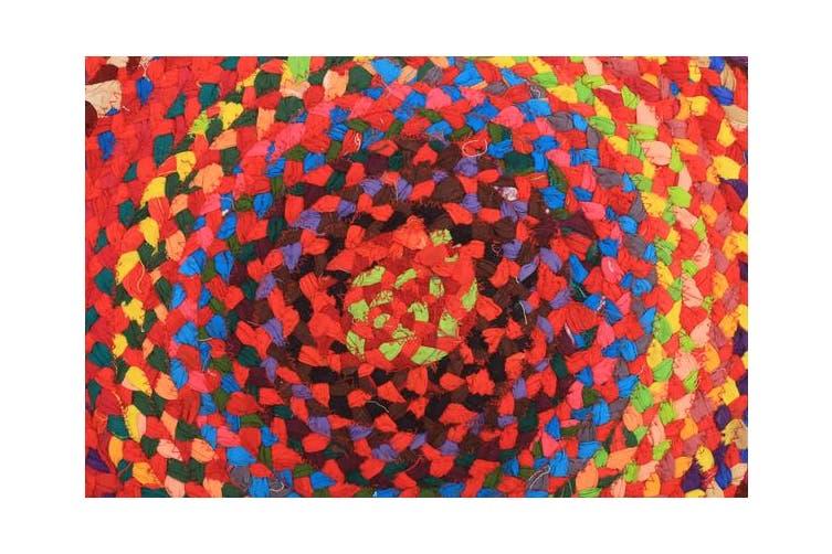 Chandra Braided Cotton Rug Multi 150x150cm