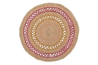 Hula Stunning Jute Rug Pink 120x120cm