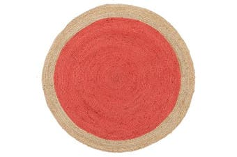 Round Jute Natural Rug Cherry 240x240cm