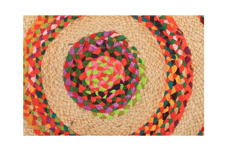 April Target Cotton and Jute Rug Multi 240x240cm