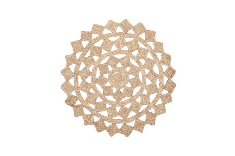 Round Jute Natural Tessellate Rug 200x200cm