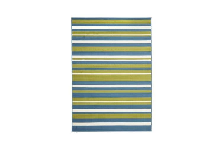 Modern Striped Blue Green Rug 230x160cm