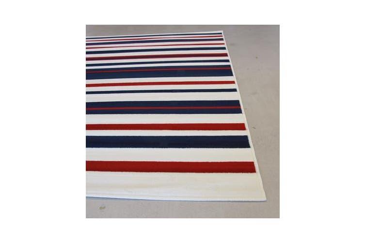 Modern Stripes Rug Blue Red White 230x160cm