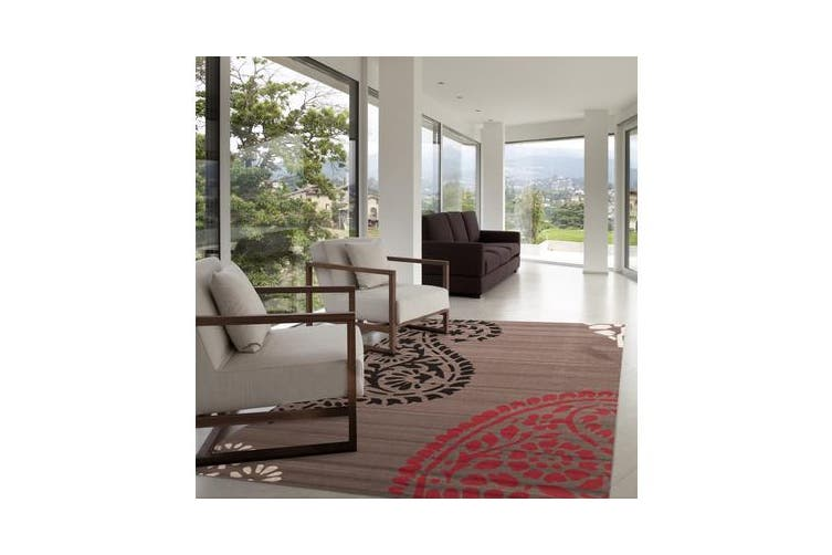 Funky Paisley Design Rug Taupe 230x160cm