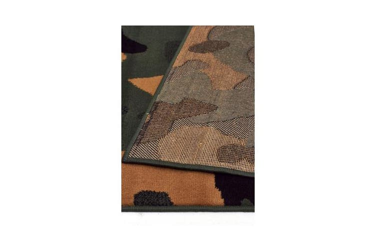 Modern Cameo Green Brown Rug 230x160cm