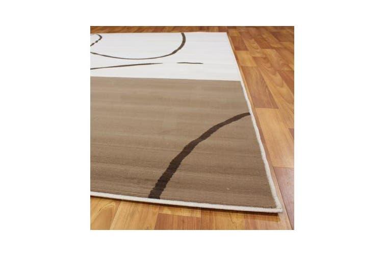 Funky Pattern Rug Brown Beige Latte 230x160cm