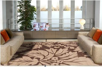 Dark Brown and Light Brown Pattern Rug 230x160cm