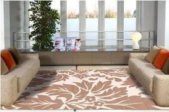 Stunning Beige and Cream Pattern Rug