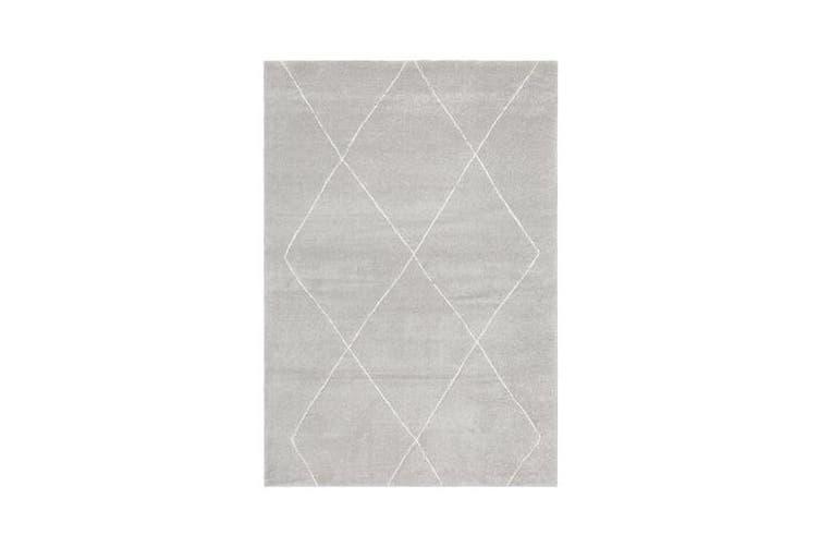 Carter Silver Grey & Ivory Soft Contemporary Rug 230x160cm