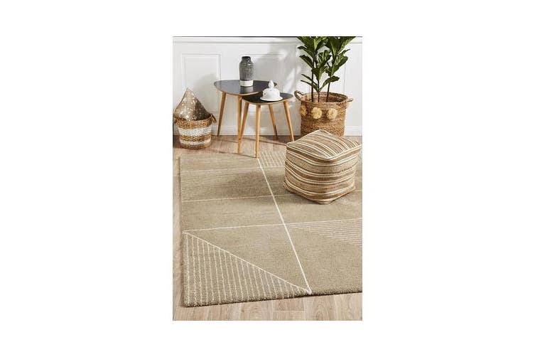 Carter Natural & Ivory Super Soft Contemporary Rug 340x240cm
