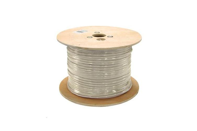 DYNAMIX 305M Cat 6A 10G SSTP (PIMF) SOLID Shielded Cable Roll. 750MHz - Grey