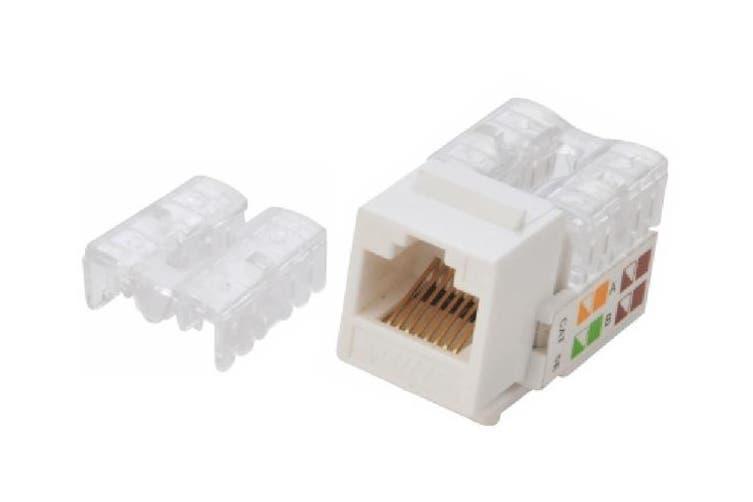 Astrotek CAT6 UTP Keystone Jack for Socket kit 10pcs per pack Poly Bag White LS