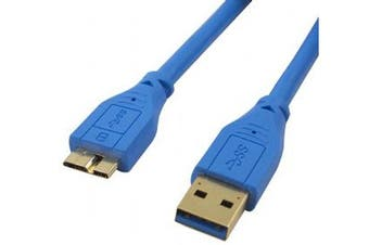 Cabac 3m USB 3.0 AM Micro BM G/P Blue Cable