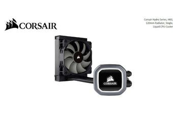 Corsair H60 v2 120mm Liquid CPU Cooler. LED Illuminated Pump Head, Efficient cool plate and pump. 1x12CM PWM Fan