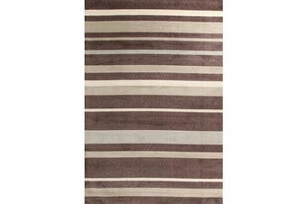 Stylish Stripe Rug Brown Beige 220x150cm