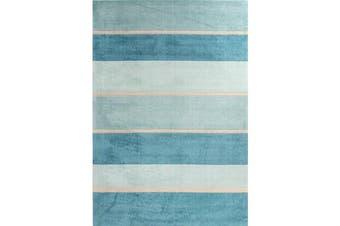 Modern Blue Bands Rug