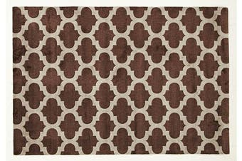 Trellis Stylish Design Rug Brown