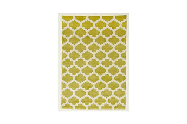 Trellis Stylish Design Rug Green 280x190cm
