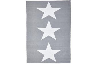 Coastal Indoor Out door Rug Star Grey White 220x150cm