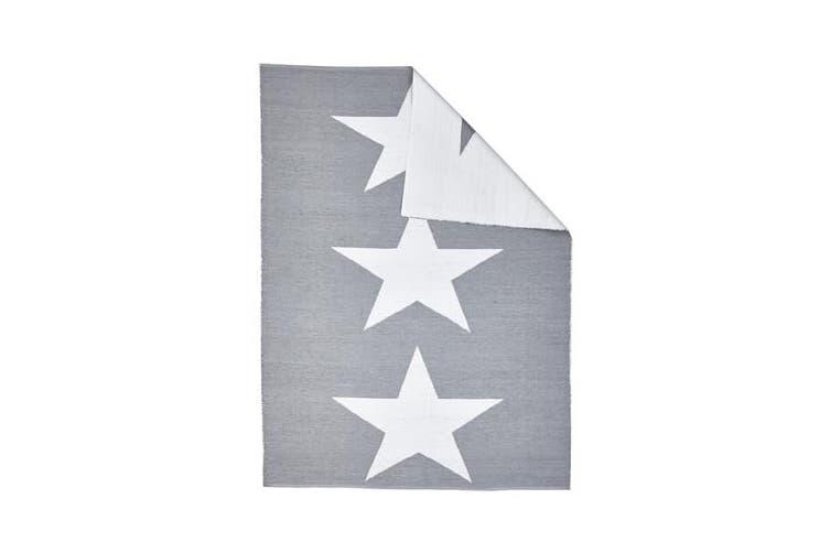 Coastal Indoor Out door Rug Star Grey White 220x150cm