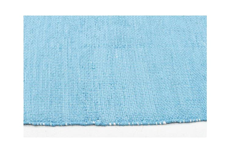 Coastal Indoor Out door Rug Star Turquoise White 220x150cm