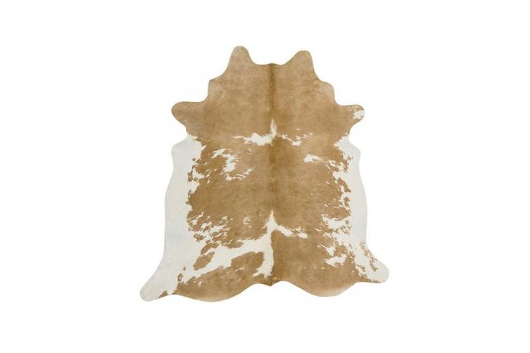 Exquisite Natural Cow Hide Beige White 170x180cm