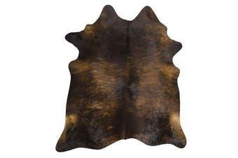 Exquisite Natural Cow Hide Dark Brindle 170x180cm
