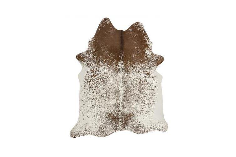 Exquisite Natural Cow Hide Salt & Pepper Brown 170x180cm