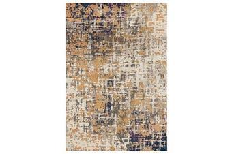 Sonia Contemporary Rug Rust Navy